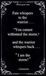 Awesome Warrior Quote