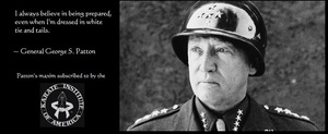 General George Patton - White Tie & Tails